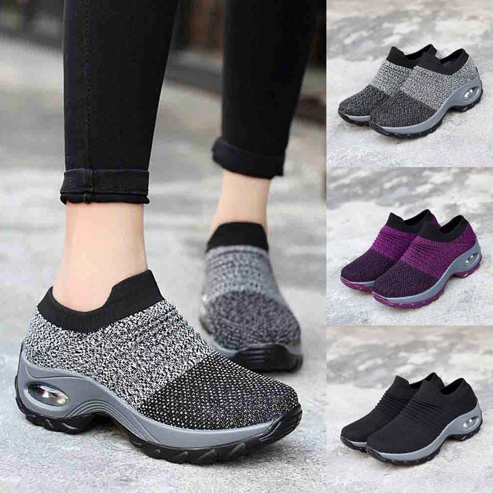 US $14.25 23% OFF|fashion basket femme sneakers women Leisure Mesh Shoes Thick Bottom Platform Shoes Air Cushion Women's Shoes Rocking Shoes #4gh in