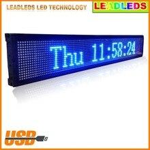 40X6.3 inch Крытый USB Программируемый Синяя Светодиодная Вывеска Сообщение Прокрутки для Компании или Магазина