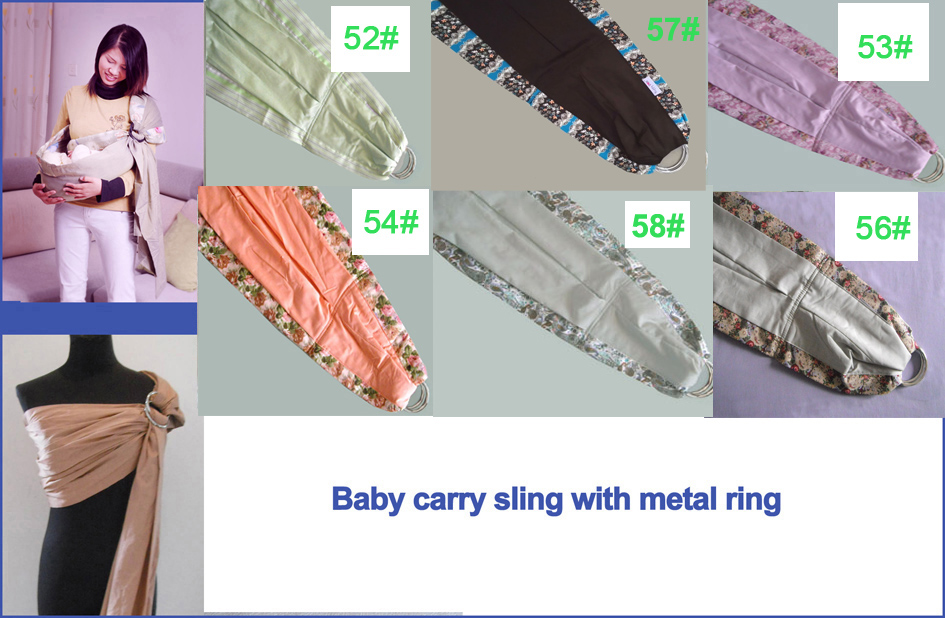 Laras bayi metel Ring Sling Baby Carrier Bungkus Bayi dengan metel Ring Best Baby Gift Satu Saiz