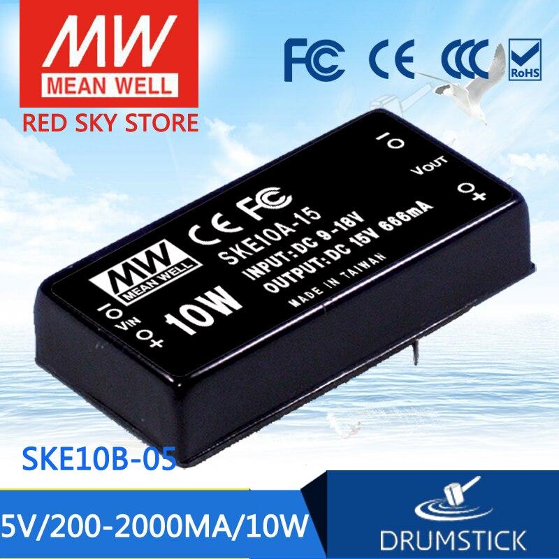 цена на Hot sale MEAN WELL SKE10B-05 5V 2000mA meanwell SKE10 5V 10W DC-DC Regulated Single Output Converter