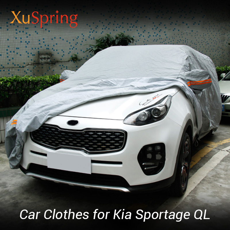 Car Colthing Suit Anti Rain Snow Waterproof Protective Covers Overlay Slip over Car Styling For Kia