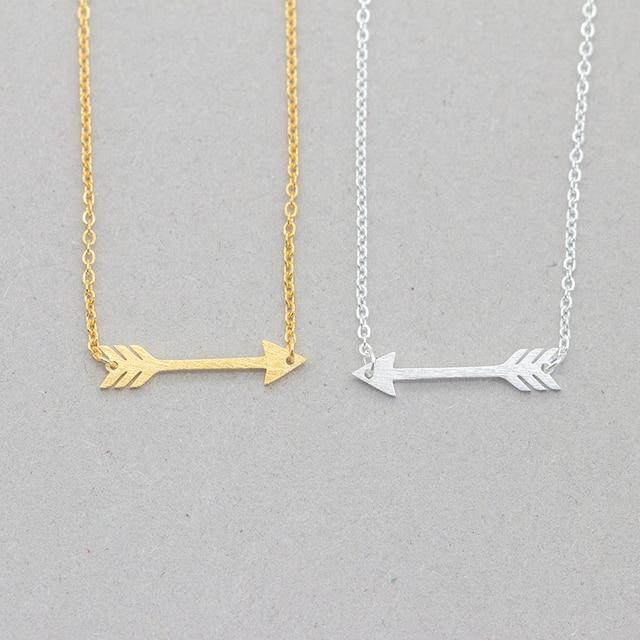 brixini.com - Vintage Arrow Charm Pendant Necklace