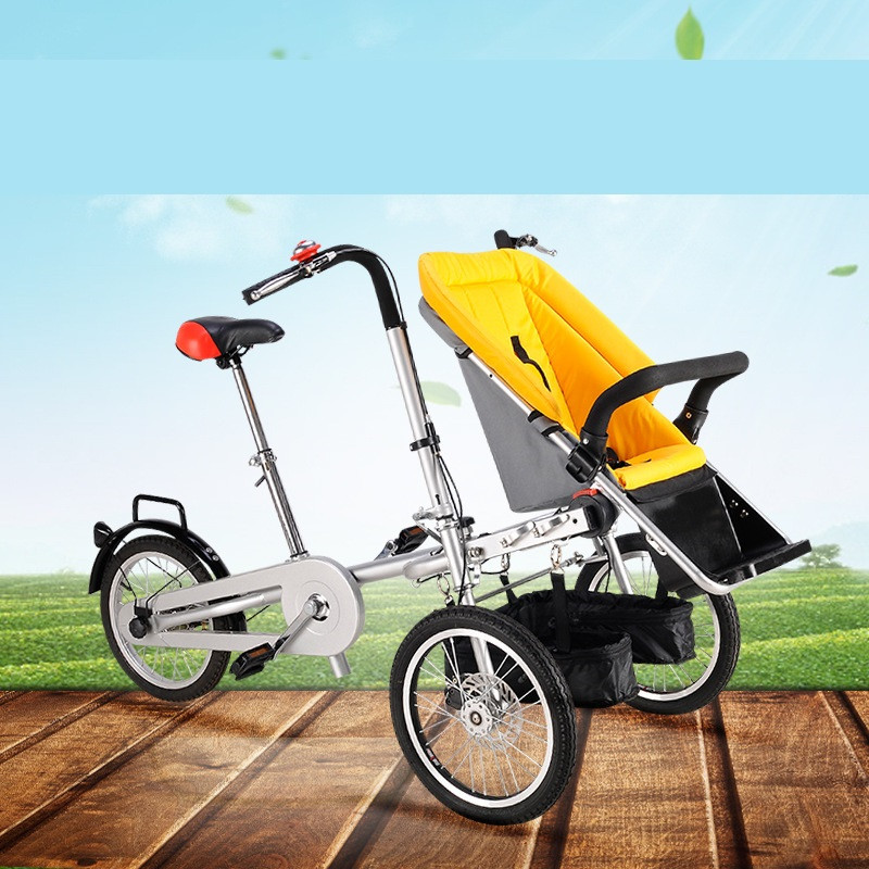 Variety Parent-Child Twins Stroller Foldable Bicycle Baby Trolley Can Sit Reclining Bike Strollers Mother And Child Car Stroller