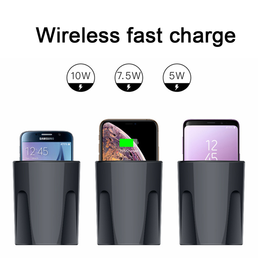 Qi Wireless Car Charger Fast Wireless Charger Quick Charger For Samsung Iphone Xiaomi Huawei For charging Universal