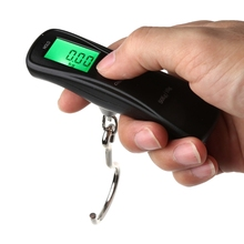 50kg/10g Portable Electronic Digital LCD Travel Luggage Weight Hanging Hook Scale