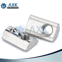 Nut Block For Aluminium Spring 6mm 20s 2020 20x20 M3 M4 M5 M6 Hammer Head Carbon Steel Carboon Nickel Plate Or Zinc Profile oasis or 20s