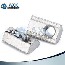 Nut-Block Zinc-Profile 20x20 Spring Nickel-Plate Carbon-Steel M4 Aluminium for 6mm 20s