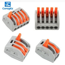 10pcs Wire Cable Connector Terminals Mini Fast Connectors 2pin 3pin 4pin 5pin push-in Terminal Block
