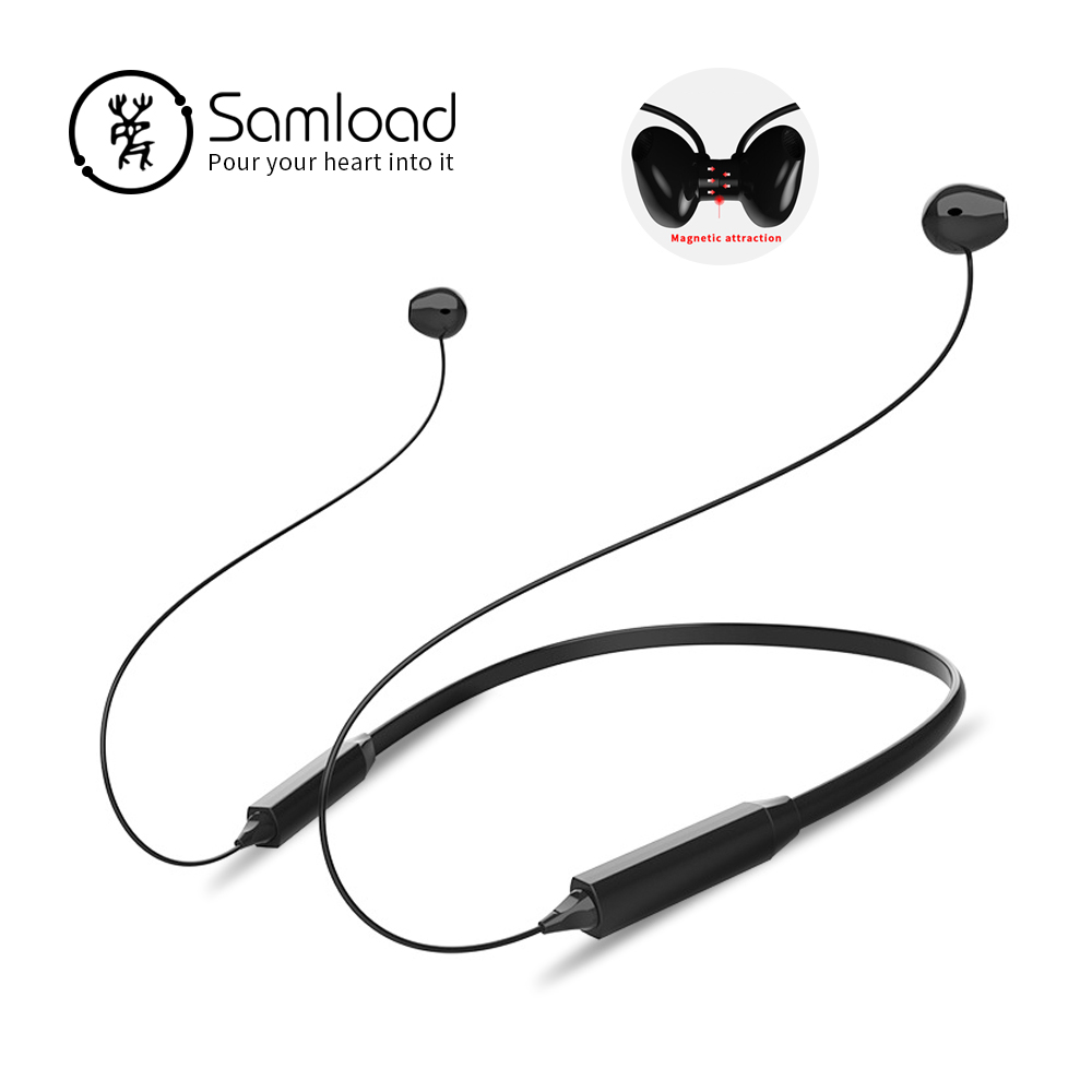 Samload Neckband Bluetooth auriculares deportes Wireless auricular impermeable auriculares estéreo para Apple iPhone X Xiaomi Huawei