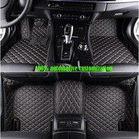XWSN custom car floor mats for peugeot All models peugeot 308 107 206 207 301 peugeot 307 sw 407 408 508 2008 4008 5008 car mats