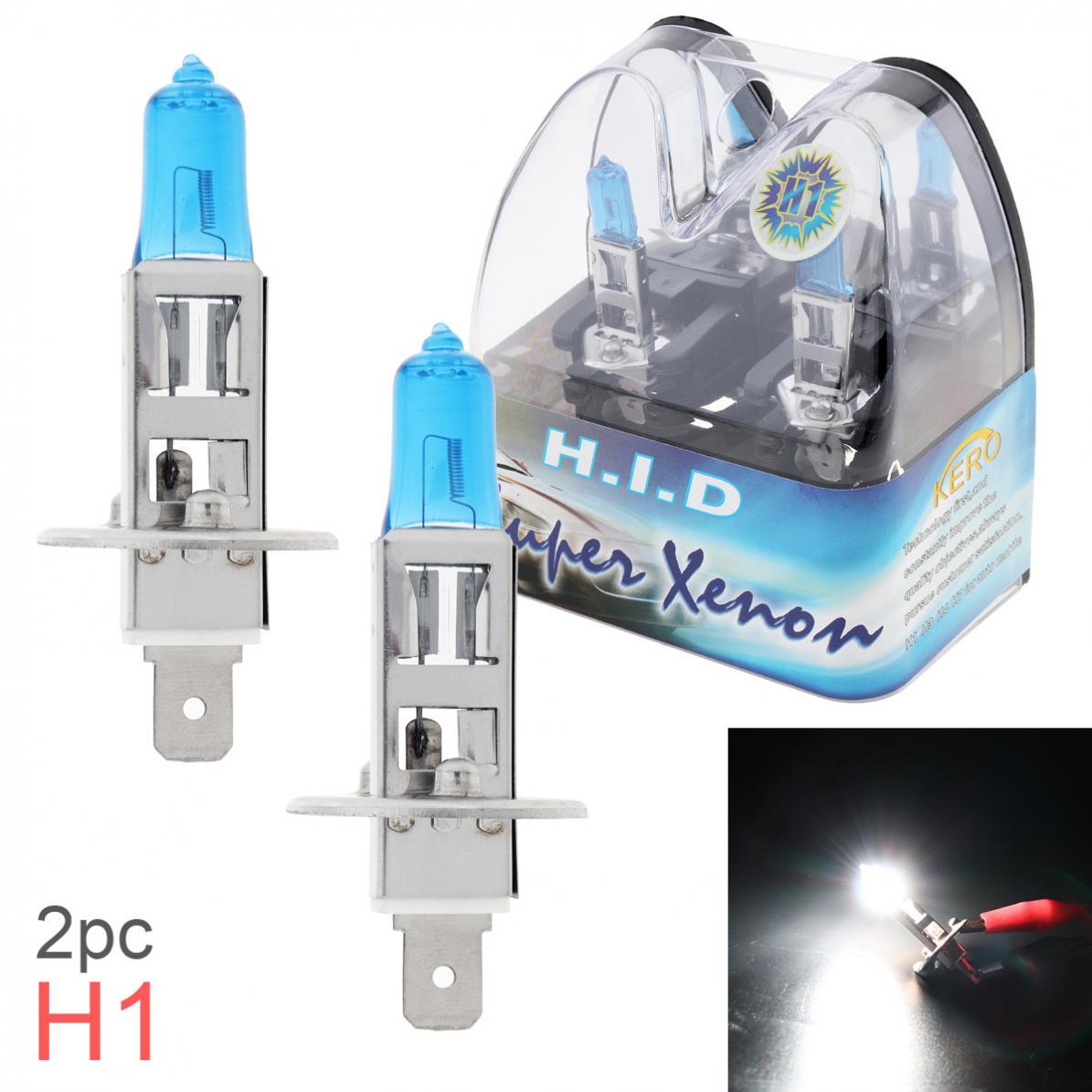 2pcs 12V H1 55W 6000K белый светильник, универсальная супер яркая Автомобильная ксеноновая галогенная лампа, автомобильный передний головной свети...