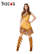 JYZCOS Primitive Savage Costume Indian Princess Cosplay Costume Halloween Costumes for Women Purim Carnival Party Costumes