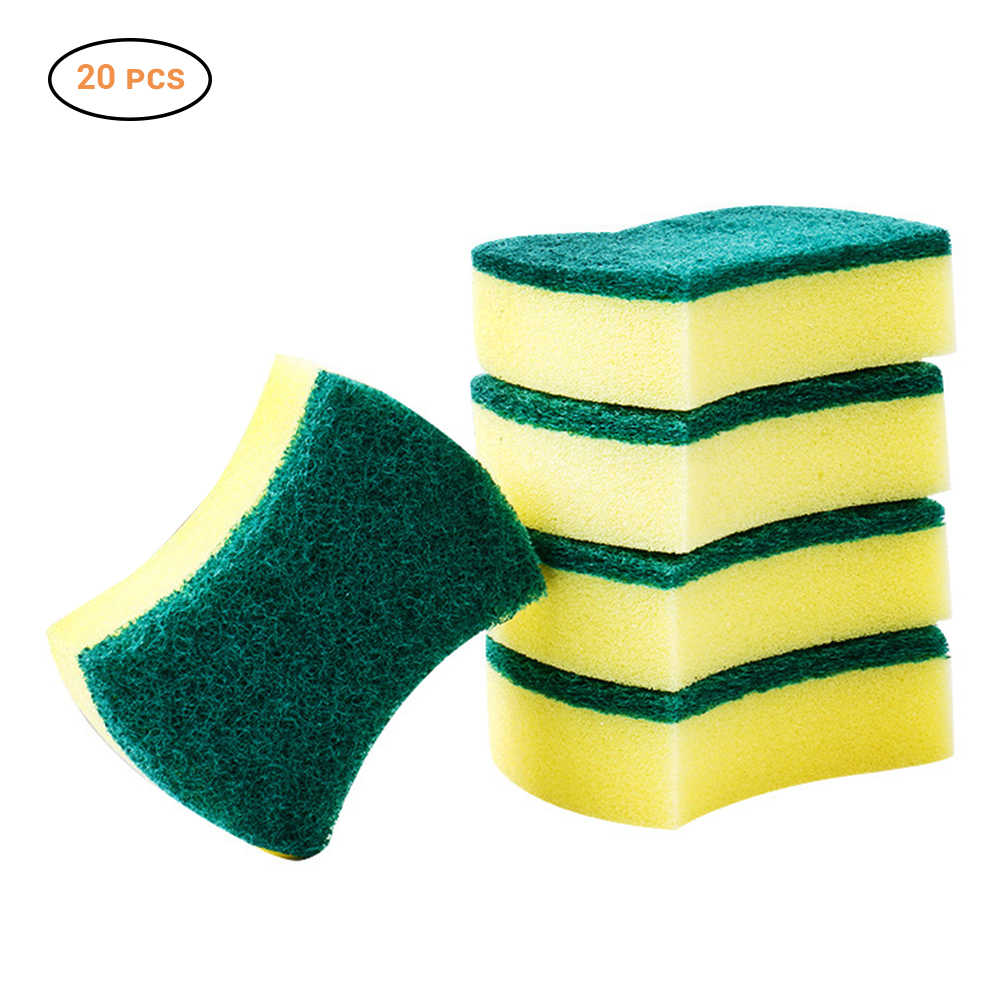 20pcs/lot Magic Sponge Eraser Melamine Cleaner Kitchen Clean Scouring Cloth Dish Washing Sponge Kitchen Cleaning Tools