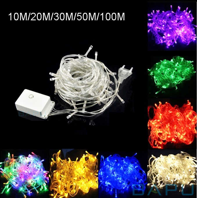 SPLEVISI led string lights 100M 50M 30M 20M 10M christmas tree decorative fairy light garland wedding party home indoor Decor