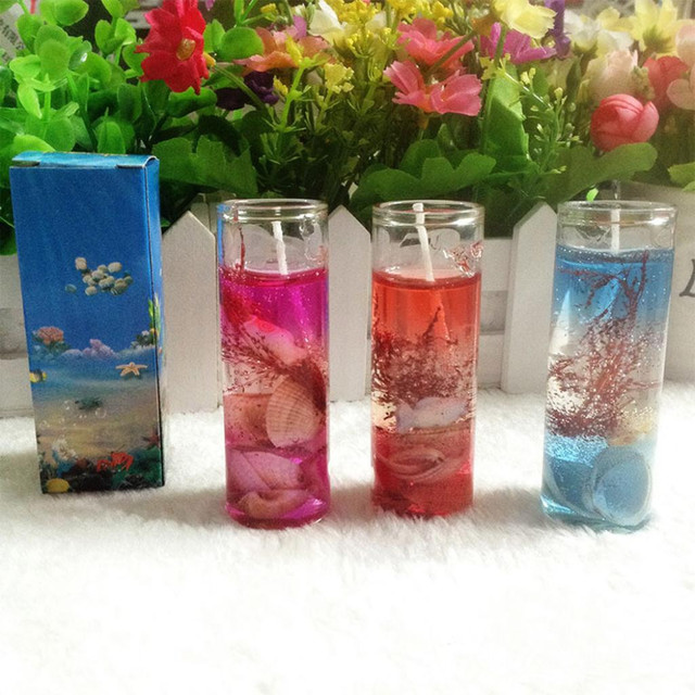 Smokeless Candles Romantic Ocean Shells Jelly Essential Oil Scented Candles Aromatherapy Wedding Candles Romantic #K35 1
