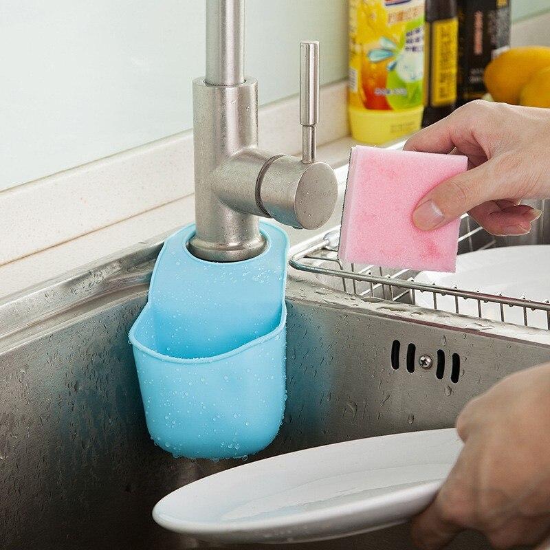 Creatieve Vouwen Opknoping Silicone Sink Rekken Spons Borstel ...