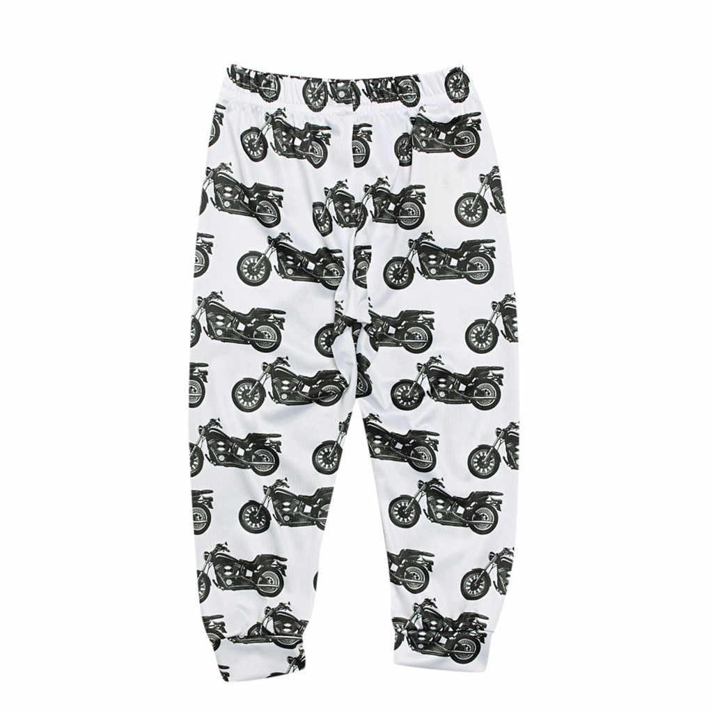 2019 ฤดูร้อนแม่ลูกสาวลูกชายพ่อเสื้อผ้ารถจักรยานยนต์ครอบครัวดูกางเกงกางเกง Casual Family Matching Outfits