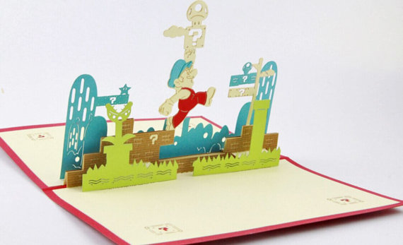 Super Mario pop up card 3d cards music card spiral pop up musical notes 3d card music instruments pop up card bday pop up card