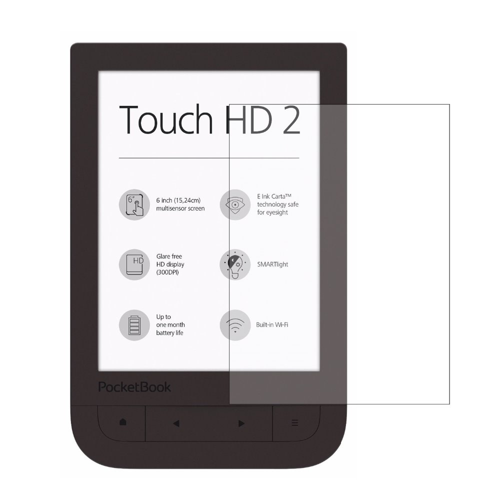 <font><b>2</b></font>* Clear LCD PET Film Anti-Scratch / Touch Responsive Screen Protector Cover for PocketBook <font><b>631</b></font> Touch HD <font><b>2</b></font> 6 inch image