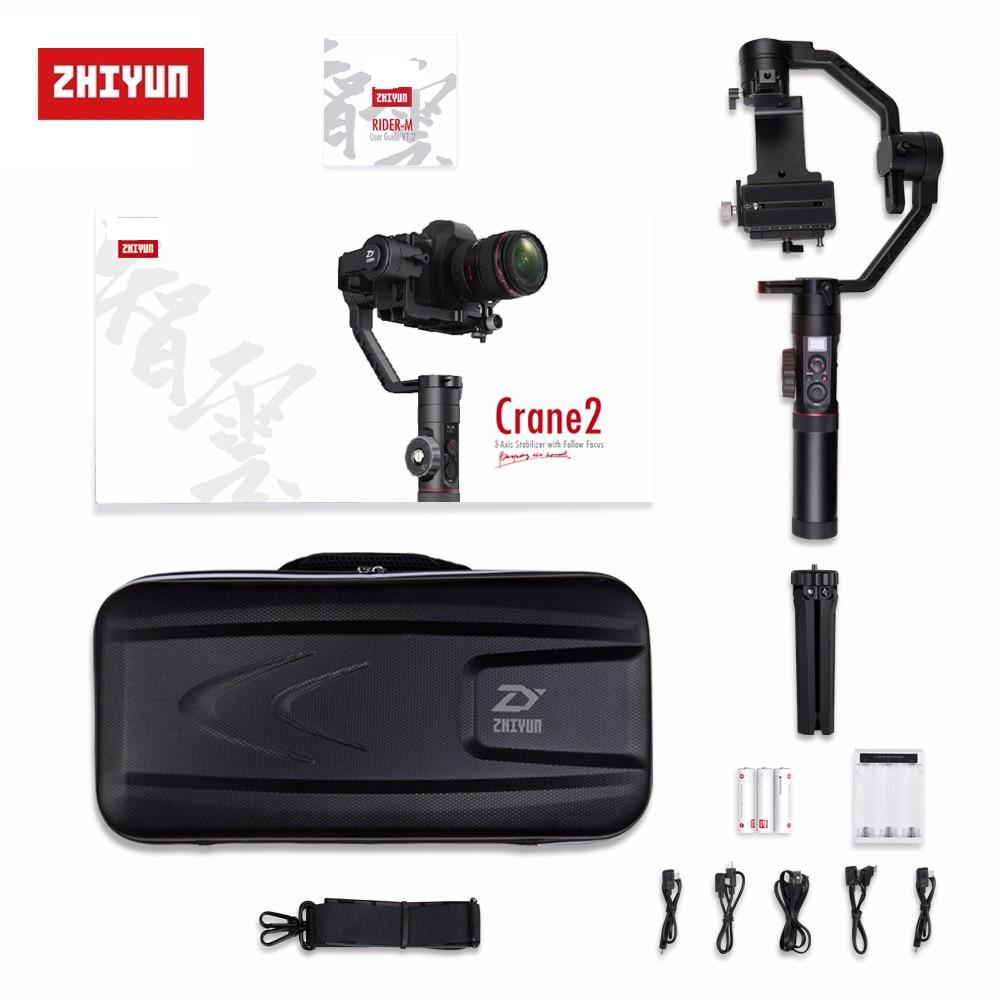 Zhiyun Crane 2 Crane2 3-Axis Handheld Gimbal Stabilizer with Follow Focus 7lb,Zhiyun Crane-2 Gimbal Stabilizer for DSLR Camera