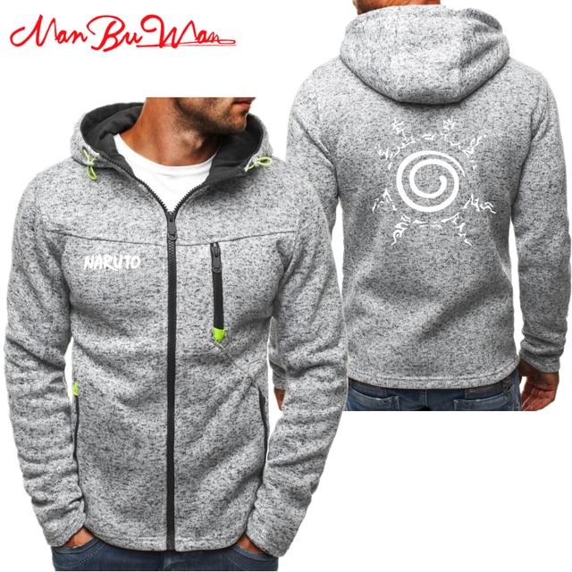 Naruto Personality Zipper Sweatshirt Winter Hoodie
