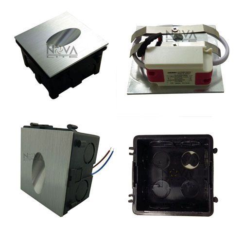Low Voltage Indoor Lighting Systems: 6pcs AC85 To AC265V RGB Indoor Step Light, LED Staircase