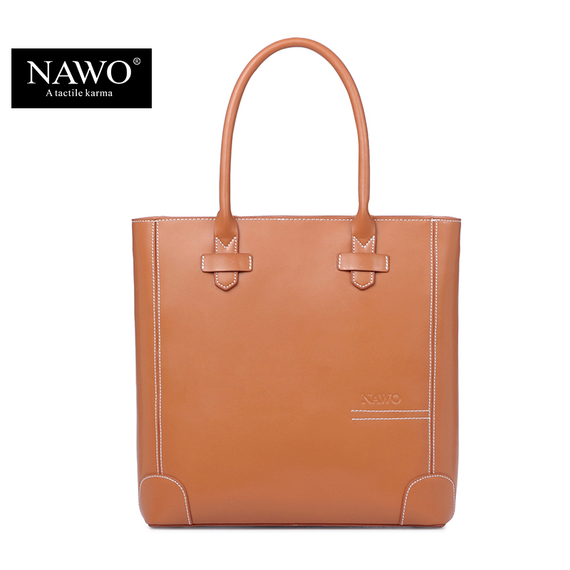 NAWO Leather Women Bag Shoulder Famous Designer Purses And Handbags 2016 High Quality Fashion Causal Tote Bags Female Sac A Main nawo new women bag luxury leather handbags fashion women famous brands designer handbag high quality brand female crossbody bags
