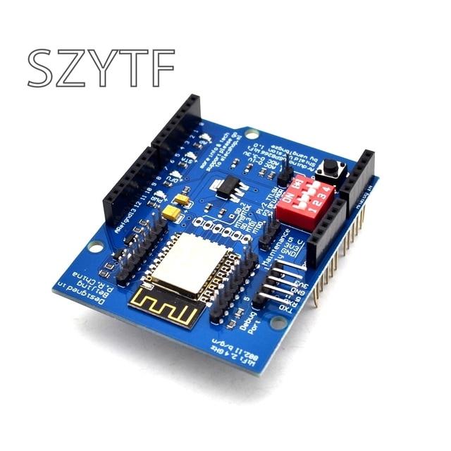 ESP8266 Web Sever serial WiFi expansion board shiled ESP-12E for arduino uno r3 UNO R3 diy