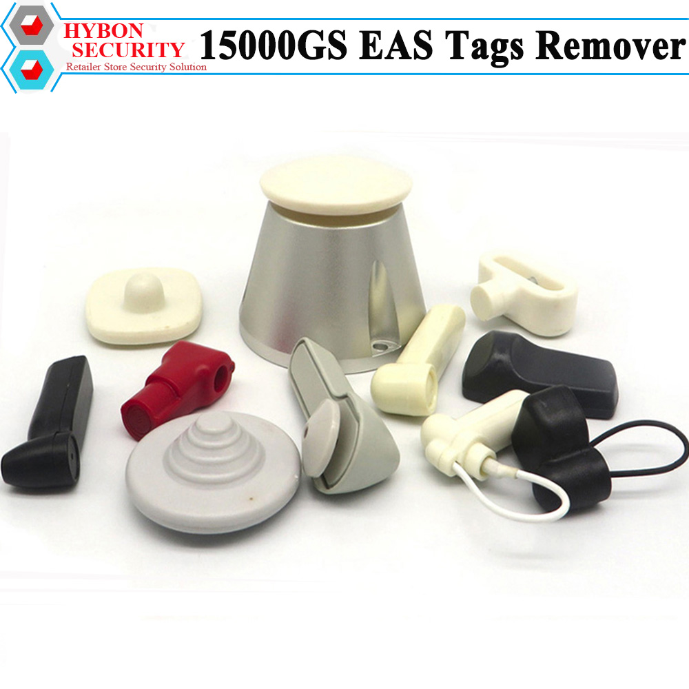 HYBON Deteacher EAS Tag Remover Golf 15000GS Tag Openner Lockpick Anti-Theft Alarmas Ropa Security Alarm Detacher Magnet free shipping super magnetic force detacher eas hard tag openner 15000gs tag remover magnet