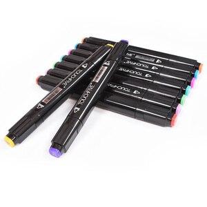 Image 4 - Touchfive Dấu 40/60/80/168 Màu Sắc Đôi Đầu Sketchmarker Cho Vẽ Manga Nghệ Thuật Đánh Dấu Rượu Mực In Nghệ Thuật Tiếp Liệu với 6 Quà Tặng