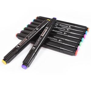 Image 4 - Touchfive Marcatori 40/60/80/168 di Colore Doppio Consigli Sketchmarker per il Disegno Manga Pennarelli Artistici Alcol Inchiostro Rifornimenti di Arte Con 6 regali