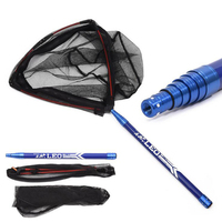 210CM Length Large size Aluminium alloy Folding Carp scoop net dip net Fishing Net Fishing Landing Net Fishing accessories