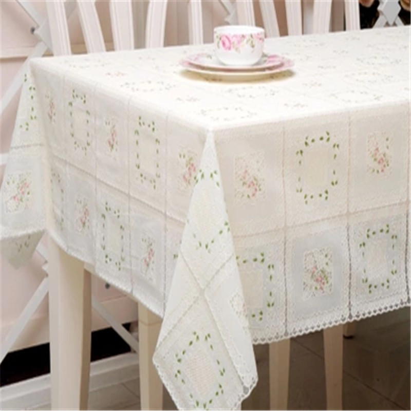 Free Shipping 010 White Blue Cheap PVC Tablecloth Tea Cup Mat Table Cover  Tabl E Runner Water Oil Proof Dining Table Cloth