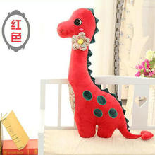 small size cute red dinosaur toy new creative lovely plush dinosaur pillow doll gift about 80cm