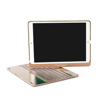 """Wireless Bluetooth Aluminum Keyboard Case For IPAD PRO 9.7/10.5"""" Inch 360 Degree Keyboard 7 COLOR Backlit Folio Cover"""