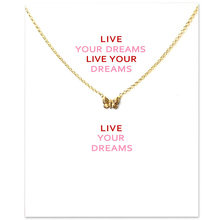 Fashion Butterfly Pendant Necklace Women Minimalist Clavicle Chain Statement Choker Necklaces Valentines Day Gift Card