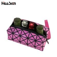 5 Colors Geometric Diamond Multifunctional Portable Waterproof Women Makeup Bag Storage Organizer Box Beauty Case Free shipping