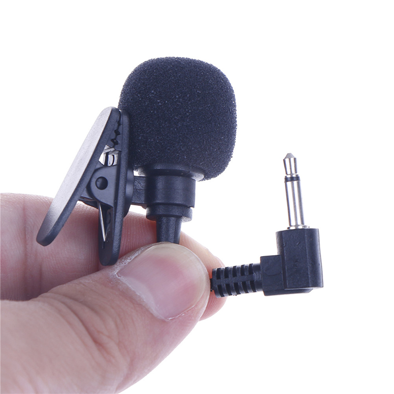 1pcs Mini 3.5mm Jack Microphone Lavalier Tie Clip Microphones Microfono Mic For Speaking Speech Lectures 2m Long Cable