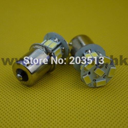 50pcs/lot wholesale car led lighting 18 leds 1156 18 leds SMD 5630 BA15S white and blue bulb 2014 new arrival Free shipping