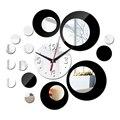 2015 novos relógios relógio de parede relógio de quartzo espelho acrílico 3d horloge reloj de pared adesivos de parede Sala de estar Da Europa livre grátis