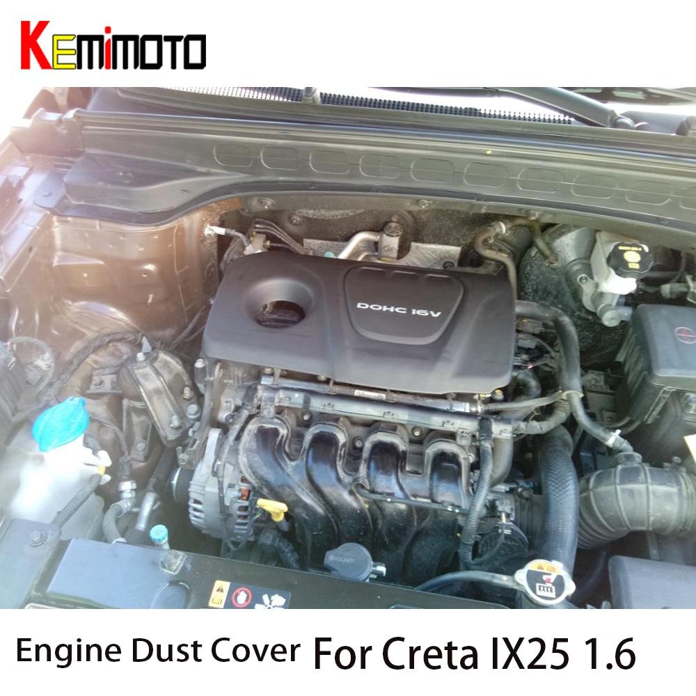 KEMiMOTO Für Hyundai Solaris Creta IX25 1,6 Motor Staub Abdeckung Für Kia RIO 2017 Dekorative Haube Für Sonata Tucson 292402E050