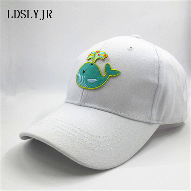 killer whale baseball cap cotton font embroidery adjustable boys