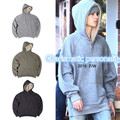 2016 HOT fall justin bieber FEAR OF GOD men half zipper hoodie pullover hiphop Irregular cutting stitching big pocket Sweatshirt
