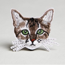 20pcs/lot small flowers Clothing patch Lovely animal cat patch Iron On Embroidered Appliques DIY Apparel Accessories Patch