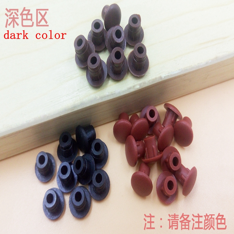 10pcs furniture cabinet <font><b>screw</b></font> hole plug <font><b>5mm</b></font> plastic plug hole wardrobe head <font><b>screw</b></font> decoration cover dustproof plug cover image