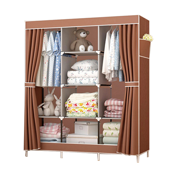 Non-Woven DIY Wardrobe Closet Large And Medium-sized Cabinets Folding Reinforcement Receive Stowed Clothes Bedroom FurnitureNon-Woven DIY Wardrobe Closet Large And Medium-sized Cabinets Folding Reinforcement Receive Stowed Clothes Bedroom Furniture