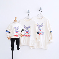 Cotton T Shirt Love Mother Father Son Daughter Matching Shirts Family Hooded Outfit Clothes Spring/autumn Family Clothing CA197