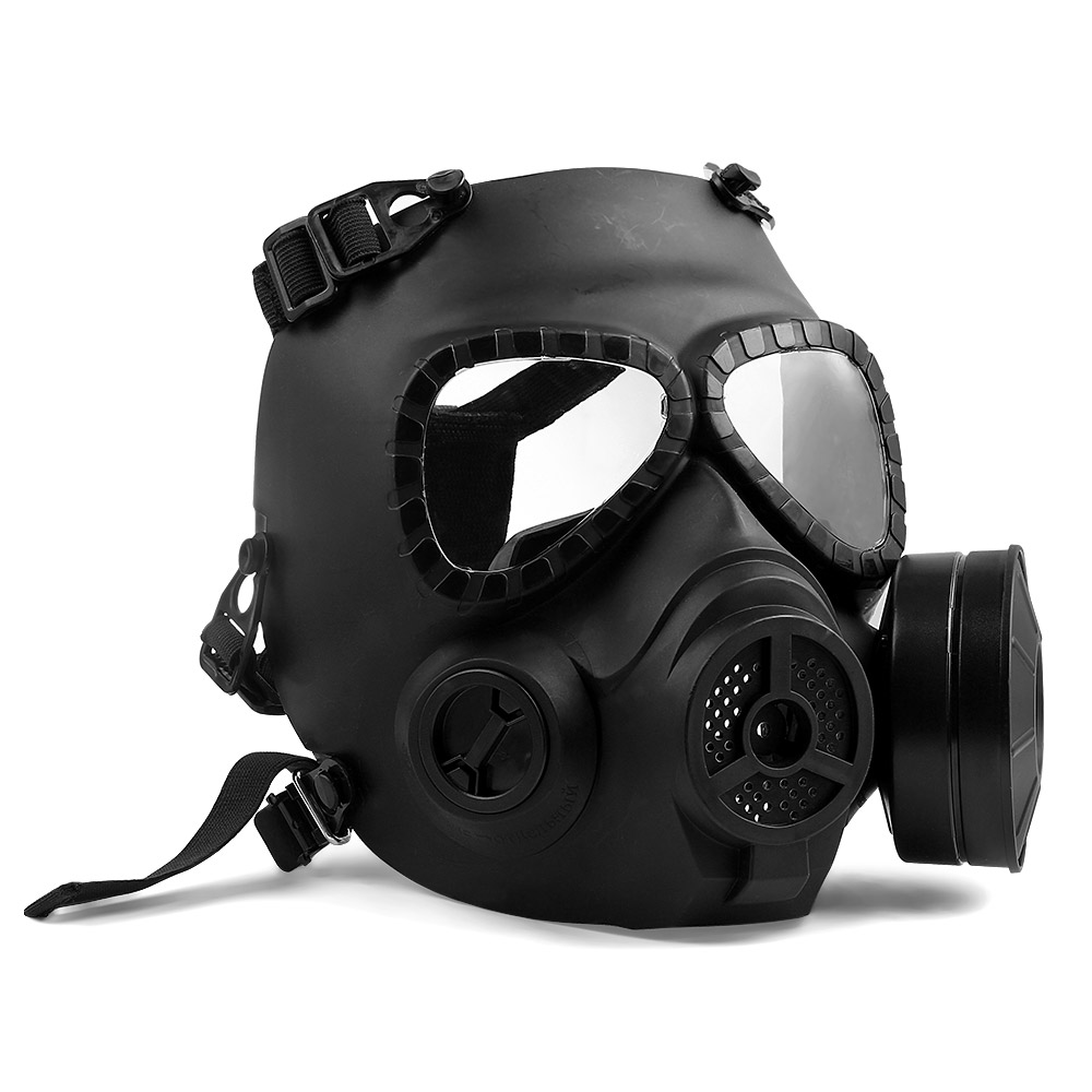 Surwish Tactical War Game Paintball Full Face Skull Mask Cs Gas Mask With Fan M50 Party Supply Black Hot Spare No Cost At Any Cost Party Masks