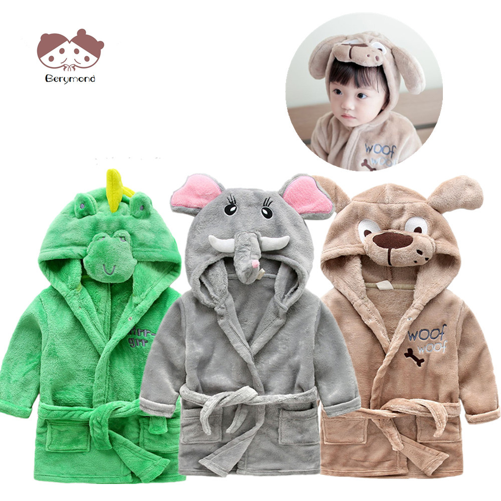 nouveau sommet hot-vente authentique vraiment pas cher US $13.28 46% OFF|Girls Bath Robe Fashion Dressing Gown Children Bathrobes  Sleeping Dress Animal Head Flannel Material Kids Long Sleeve Clothes-in ...