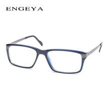 Engeya TR90 Ясно Модные очки кадр Брендовая Дизайнерская обувь оптические очки Рамки Мужчины Высокое качество рецепт очки #134-1 #